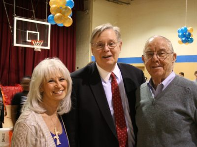 Joyce DiCamillo, Mayor David Martin and Mort Lowenthal at a Project Music event